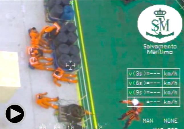 Rescatados los 22 tripulantes del mercante Modern Express a 148 millas al Norte de Cabo Ortegal