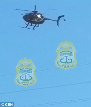 Video: Cae helicóptero de policía en México, mueren cuatro personas