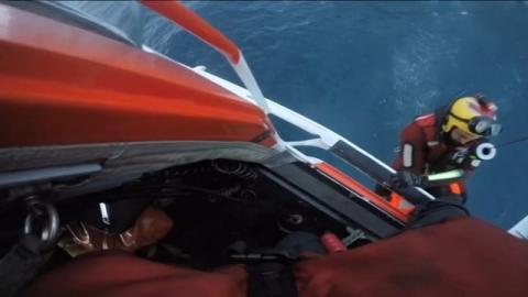 Rescate de la tripulación del Marengo Helicopter Rescue Helimer 204 AW139